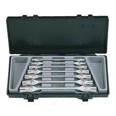 Набор ключей шарнирно-торцевых FORCE 7 предметов 6-19 мм (5074), фото 1