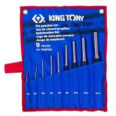 Набор выколоток 9 предметов KING TONY 1009PRN чехол из теторона, фото 1