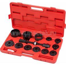 Набор оправок для монтажа и демонтажа ступичных подшипников кейс 14 предметов МАСТАК 100-30014C, фото 1