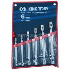 Набор торцевых ключей с шарниром 6 предметов KING TONY 1A06MR 8-19 мм, фото 1
