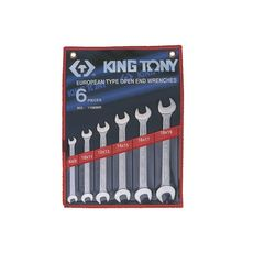 Набор рожковых ключей 6 предметов KING TONY 1106MR 8-19 мм, фото 1