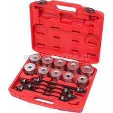 Набор оправок для монтажа и демонтажа сайлентблоков, 34-82 мм, кейс, 24 предмета МАСТАК 110-20024C, фото 1