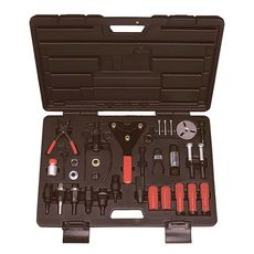 Набор для обслуживания компрессора кондиционера кейс 37 предмета МАСТАК 105-30037C, фото 1
