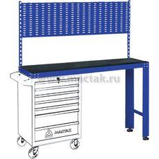 Верстак инструментальный под тележку МАСТАК 542-11500B задняя панель синий, фото 1