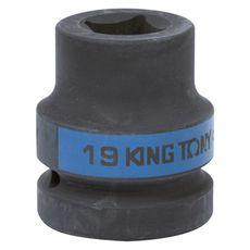 "Головка торцевая ударная четырехгранная 1"" 19 мм футорочная KING TONY 851419M, фото 1"