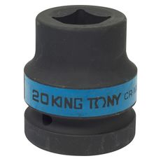 "Головка торцевая ударная четырехгранная 1"" 20 мм футорочная KING TONY 851420M, фото 1"