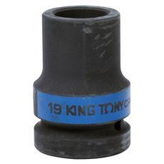 "Головка торцевая глубокая ударная четырехгранная 1"" 19 мм футорочная KING TONY 853419M, фото 1"