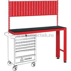 Верстак инструментальный под тележку МАСТАК 542-11500R задняя панель красный, фото 1