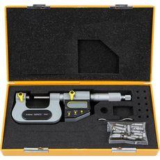 ASIMETO 146-07-0 Микрометр универсальный цифровой IP65 со сменными наконечниками 0.001 мм, 150-175 mm, фото 1