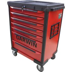 GARWIN GTT-01D07T-R Тележка инструментальная, 7 полок, красная, фото 1
