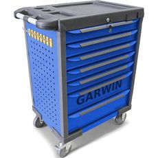 GARWIN GTT-01D07T-B Тележка инструментальная, 7 полок, синяя, фото 1