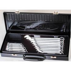 Licota AWT-ERSK06 Набор ключей комбинированных 16 предметов 6-24 мм в металлическом ящике, фото 1