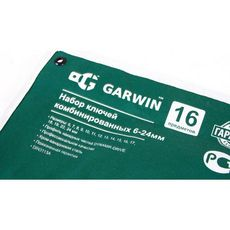 GARWIN GR-ECK016 Набор ключей комбинированных 16 предметов 6-24 мм, фото 1
