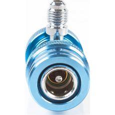 "Licota ATL-9007 Адаптер синий 1/4"" для двухвентильного манометрического коллектора, фото 1"