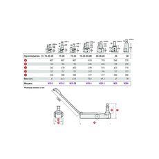 Домкрат подкатной пневмогидравлический (20/35/65 тонн). MEGA N20-3, фото 2