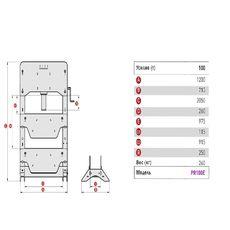 Пресс электрогидравлический, напольный (100 тонн) MEGA K100E, фото 2