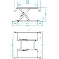 Ножничный подъемник г/п 2500 кг. Nordberg 633S-2,5Т (380 В), фото 7