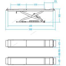 Ножничный подъемник г/п 4500 кг Nordberg N634-4,5 (380 В), фото 2
