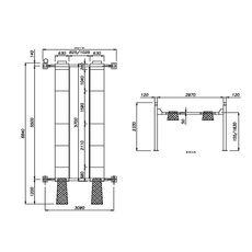 Электрогидравлический четырехстоечный подъемник г/п 5000 кг.  Werther-OMA 450AT/5(OMA526BL5)_grey, фото 2
