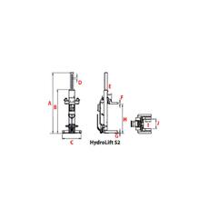Комплект мобильных подъемных колонн  г/п 32,8 т. ROTARY HydroLift S2 4-8,2, фото 2