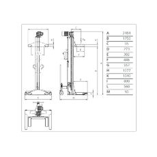 Комплект подкатных колонн г/п 45 т. ОМА LTW75 6C+6, фото 3