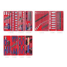 """Набор инструментов для тележки 186 предметов МАСТАК 5-00186 """"СТАНДАРТ"""" 10 ложементов, фото 2"""