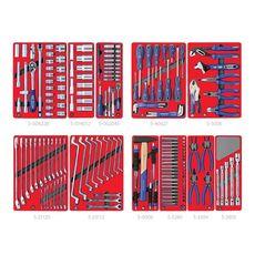 """Набор инструментов для тележки 205 предметов МАСТАК 5-00205 """"МАСТЕР"""" 11 ложементов, фото 2"""