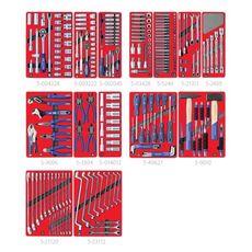 """Набор инструментов для тележки 270 предметов МАСТАК 5-00270 """"ЛИДЕР"""" 14 ложементов, фото 2"""