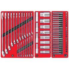 """Инструментальная тележка с набором инструмента 186 предметов МАСТАК 52-04186R """"СТАНДАРТ"""" красная, фото 3"""