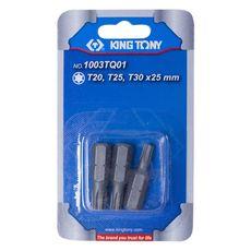 """Набор вставок (бит) 1/4"""", TORX, Т20, Т25, Т30, 3 предмета KING TONY 1003TQ01, фото 2"""