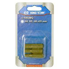 """Набор вставок (бит) 1/4"""", HEX, 4, 5, 6 мм, 3 предмета KING TONY 1003MQ, фото 2"""