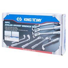 Набор торцевых L-образных ключей 26 предметов KING TONY 1826MR 6-32 мм,, фото 3