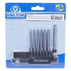 """Набор вставок (бит) с воротком-битодержателем 1/4"""", TORX, T10-T40, L = 60 мм, 8 предметов KING TONY, фото 3"""