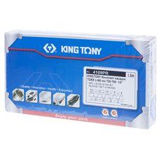 """Набор торцевых насадок 1/2"""", TORX, Т20-Т60 мм, L = 60 мм, 9 предметов KING TONY 4109PR, фото 4"""