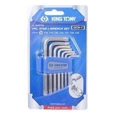 Набор Г-образных TORX T10-T40 с отверстием 7 предметов KING TONY 20407PR, фото 3