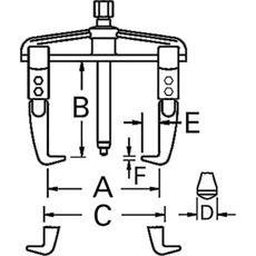 GARWIN GPL-AT0810 Съемник с двумя передвижными захватами (америк. тип) 250х200 мм, фото 4
