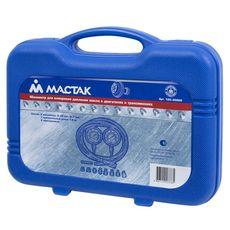 Манометр для измерения давления масла МАСТАК 120-20028C  два манометра, 0-7 и 0-28 бар, фото 3