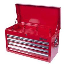 Ящик инструментальный МАСТАК 511-06570R  6 полок красный, фото 2