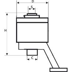 GARWIN 520230-1000 Усилитель крутящего момента ручной с несъемной реакционной опорой; 1:4; 1000 Нм, фото 3