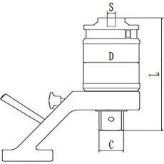 GARWIN 520220-6200 Усилитель крутящего момента ручной со съемной реакционной опорой  1:22; 6200 Нм, фото 2