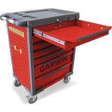 GARWIN GTT-01D07T-R Тележка инструментальная, 7 полок, красная, фото 2