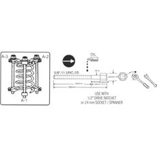 Licota ATC-2161 Стяжка для пружин с обхватом витка, фото 2