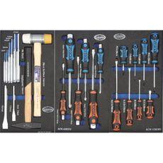 Licota AWX-2601BTSEK01-GREY Тележка инструментальная 6 полок пласт. стол., с комплектом инструмента, 215 пр., серая, фото 3