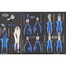 Licota AWX-2601BTSEK01 Тележка инструментальная 6 полок пласт. стол., с комплектом инструмента, 215 пр. сине-серая, фото 4