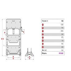 Пресс электрогидравлический, напольный (100 тонн) MEGA K100E, фото 3