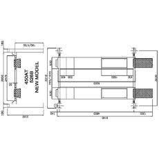 Электрогидравлический четырехстоечный подъемник г/п 4000 кг. Werther0OMA 450AT(OMA526B)_grey, фото 3