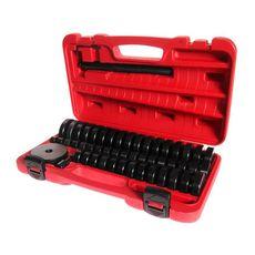 Набор оправок для выпрессовки подшипников, втулок, сальников 18-74мм 50 предметов в кейсе, фото 1