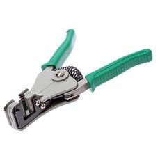 Клещи для снятия изоляции с кабелей 0.5-2.0мм (зеленые ручки), фото 1