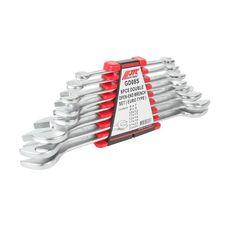 Набор ключей рожковых 6-24мм двухсторонних 8 предметов с держателем, фото 1