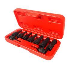 """Набор бит-головок 3/8"""" HEX H3-14ммх52 мм ударных в кейсе 9 предметов, фото 1"""